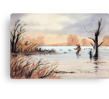 Setting Out The Decoys I Canvas Print