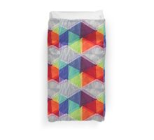 fabric with colors and geometric shapes Duvet Cover