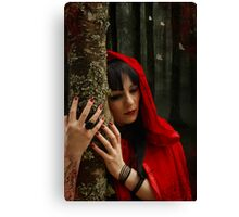 Hey There Little Red Riding Hood Canvas Print