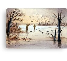 Setting Out The Decoys II Canvas Print