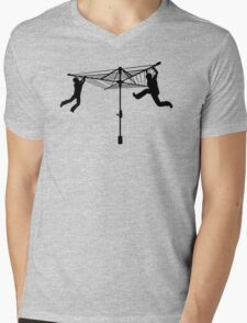 Merry Go Hills Hoist Mens V-Neck T-Shirt