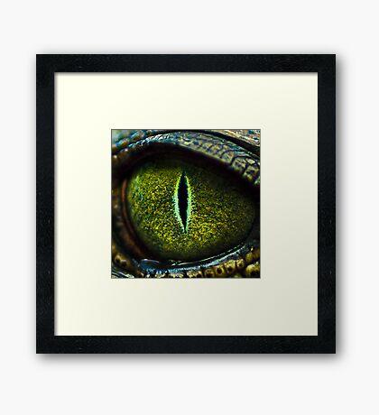 Eye of the Crocodile II [Print & iPad Case] Framed Print