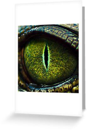 Eye of the Crocodile II [Print & iPad Case] by Damienne Bingham