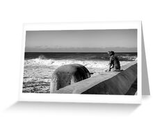 Watcher and the Waves - Newcastle Greeting Card