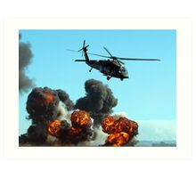 Australian Army helicopter signed Art Print