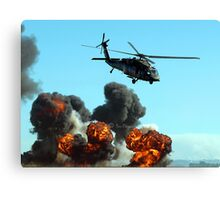 Australian Army helicopter signed Canvas Print