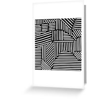 Strypes BW Greeting Card
