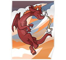 Red Tea Dragon Poster
