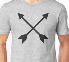 Hipster Crossed Arrows Unisex T-Shirt