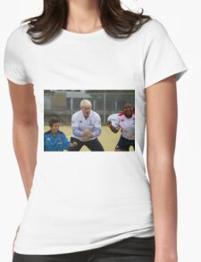 Boris Johnson playing rugby Womens Fitted T-Shirt