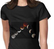 Mondfinsternis und Blutmond 2015 Womens Fitted T-Shirt