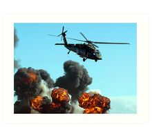 Australian Army Helicopter 3 Art Print