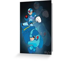 Rockman X and classic Rockman Greeting Card