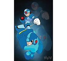 Rockman X and classic Rockman Photographic Print
