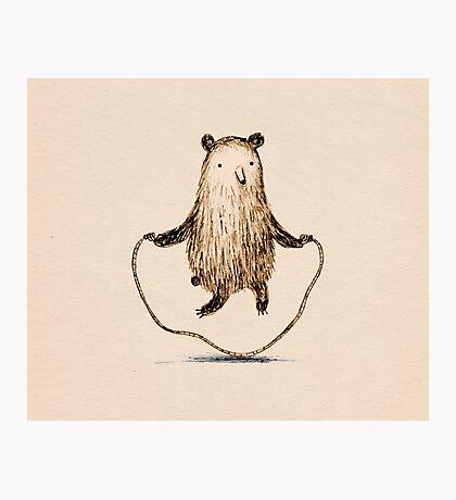 Skipping Bear Photographic Print
