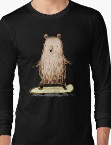 Skateboarding Bear Long Sleeve T-Shirt