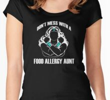 Don't Mess with a Food Allergy Aunt Women's Fitted Scoop T-Shirt