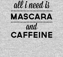 Mascara And Caffeine Funny Quote Womens Fitted T-Shirt
