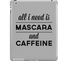 Mascara And Caffeine Funny Quote iPad Case/Skin