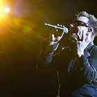 Bono in the spotlight. by oneguy