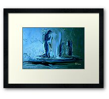 ANGELS OF THE EVENING.......CANCER ANGELS Framed Print