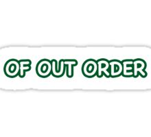 Words Out of Order Sticker