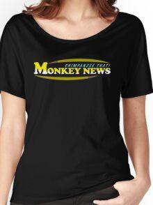 Chimpanzee That! Monkey News Women's Relaxed Fit T-Shirt