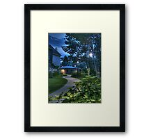 The Curved Sidewalk (Re-revisited) Framed Print