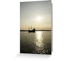 Ye ole Pirate Ship Greeting Card