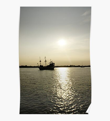 Ye ole Pirate Ship Poster