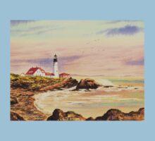 Portland Head Lighthouse Maine One Piece - Short Sleeve