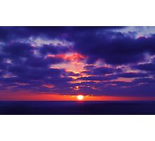 South Pacific Sunset Photographic Print