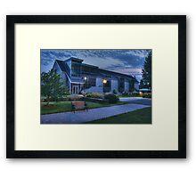 Abram Nesbitt III Academic Commons (blue hour) Framed Print