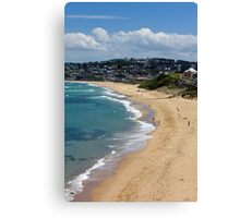 The Golden Shores Of Bar Beach Canvas Print