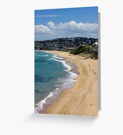 The Golden Shores Of Bar Beach Greeting Card