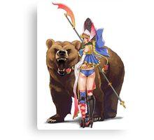 Masha and Bear Canvas Print
