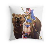 Masha and Bear Throw Pillow