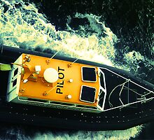 Pilot boat off the coast of Honolulu, HI by oldmanfmdac