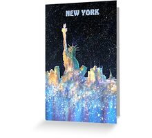 New York - Liberty and Skyline  Greeting Card