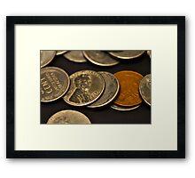 World War II coins Framed Print