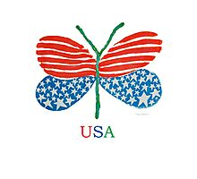 flag butterfly Photographic Print
