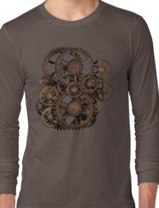 Infernal Vintage Steampunk Gears on your Gear Long Sleeve T-Shirt