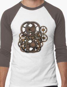 Infernal Vintage Steampunk Gears on your Gear Men's Baseball ¾ T-Shirt