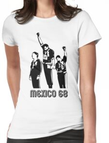 1968 Olympics Black Power Salute V2 Womens Fitted T-Shirt
