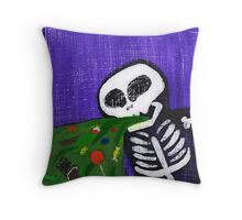 Too Much Candy Andy Throw Pillow