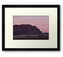 Mt Roland & Fog Framed Print