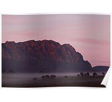 Mt Roland & Fog Poster