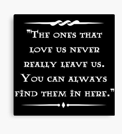 Sirius Black wisdom Canvas Print