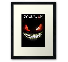 Zombiemon: Death in the Dark Framed Print