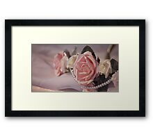 Roses ~ Pearls ~ Love Framed Print